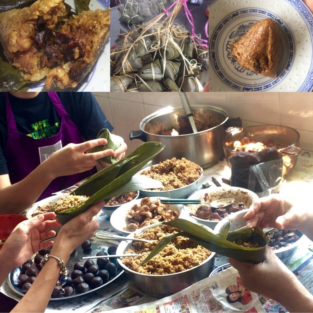 Rice dumpling recipe - collage