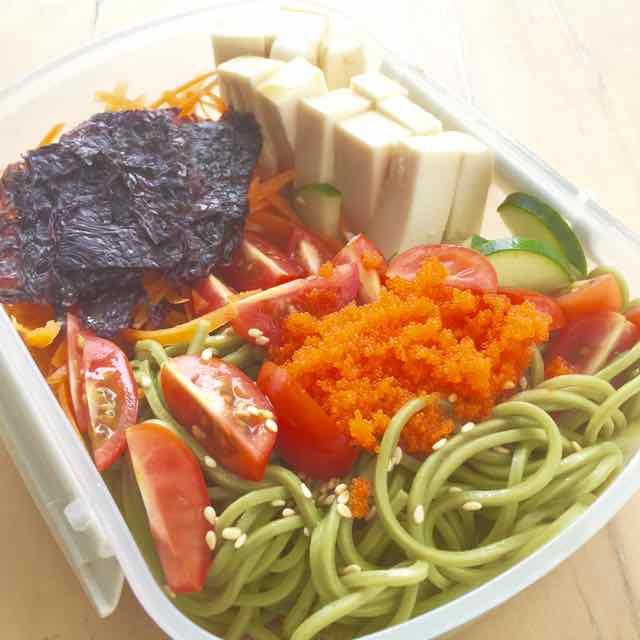 Healthy Soba recipe bento box