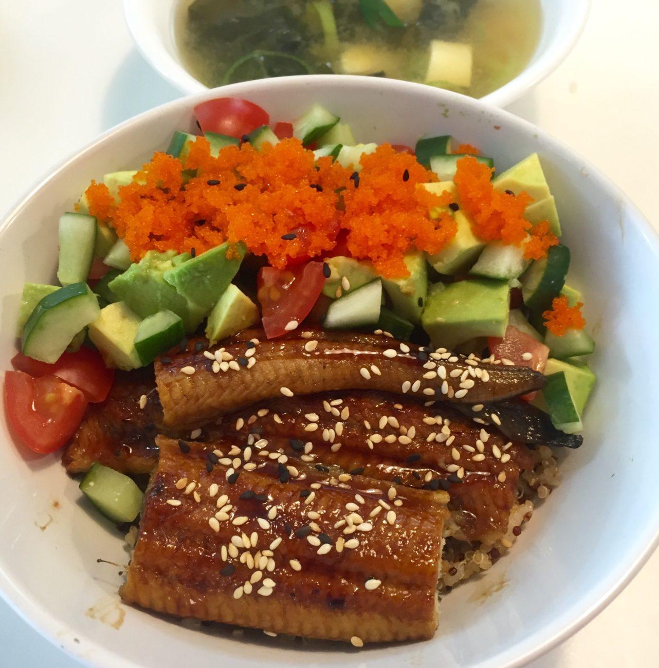 Healthy Unagi Don Recipe with Quinoa Mixed Rice