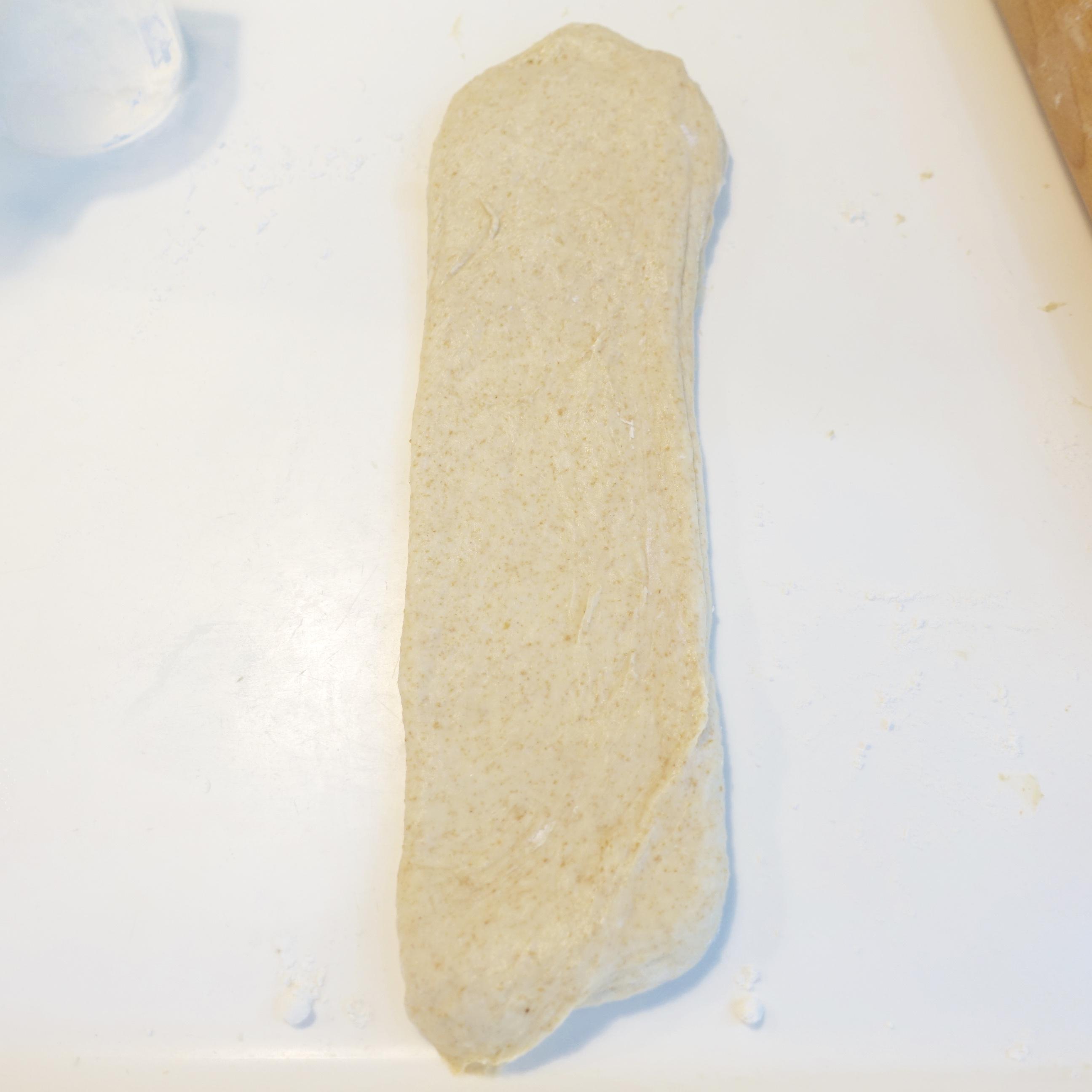soft sourdough wholemeal bread flatten