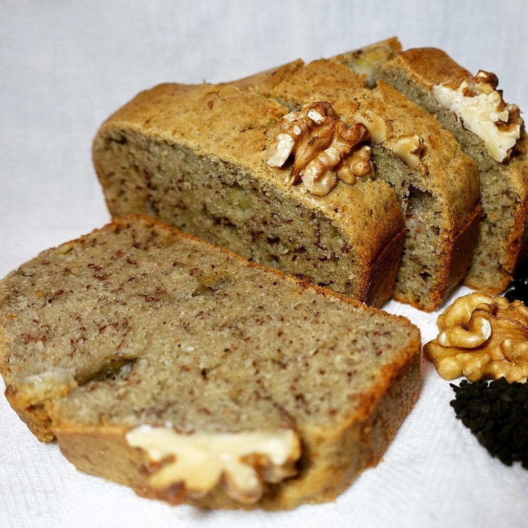 Okara Cakes: Black Okara Banana Cake